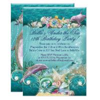 Dolphin Under the Sea Party Invitations