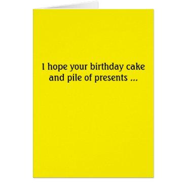 Donald Trump birthday card -- cake and presents