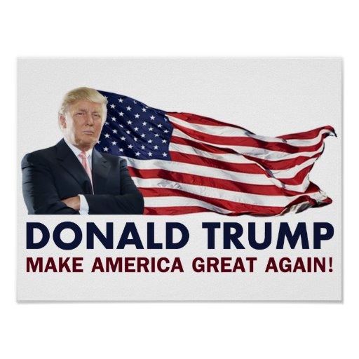 Donald Trump US Flag Poster Zazzle