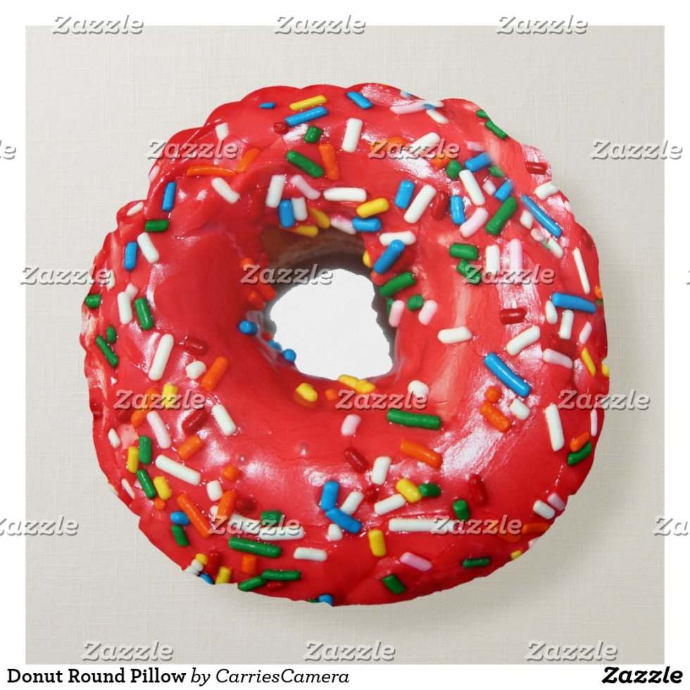 Donut Round Pillow