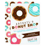 Donut Shop Birthday Party Invitation