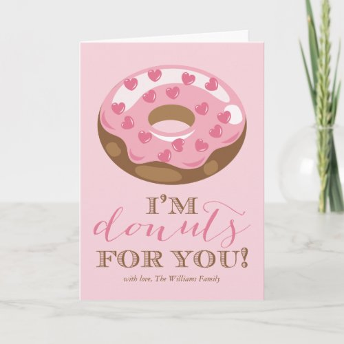 Donuts For You Valentine's Day Cards