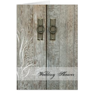 Double Barn Door Country Wedding Shower Invitation Greeting Card