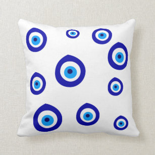 evil eye decorative throw pillows