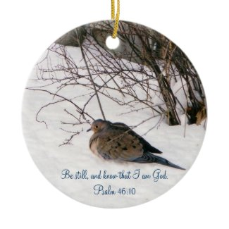 Dove in the Snow Ornament ornament