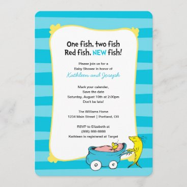Dr. Seuss   One Fish - Boy Baby Shower Save The Date