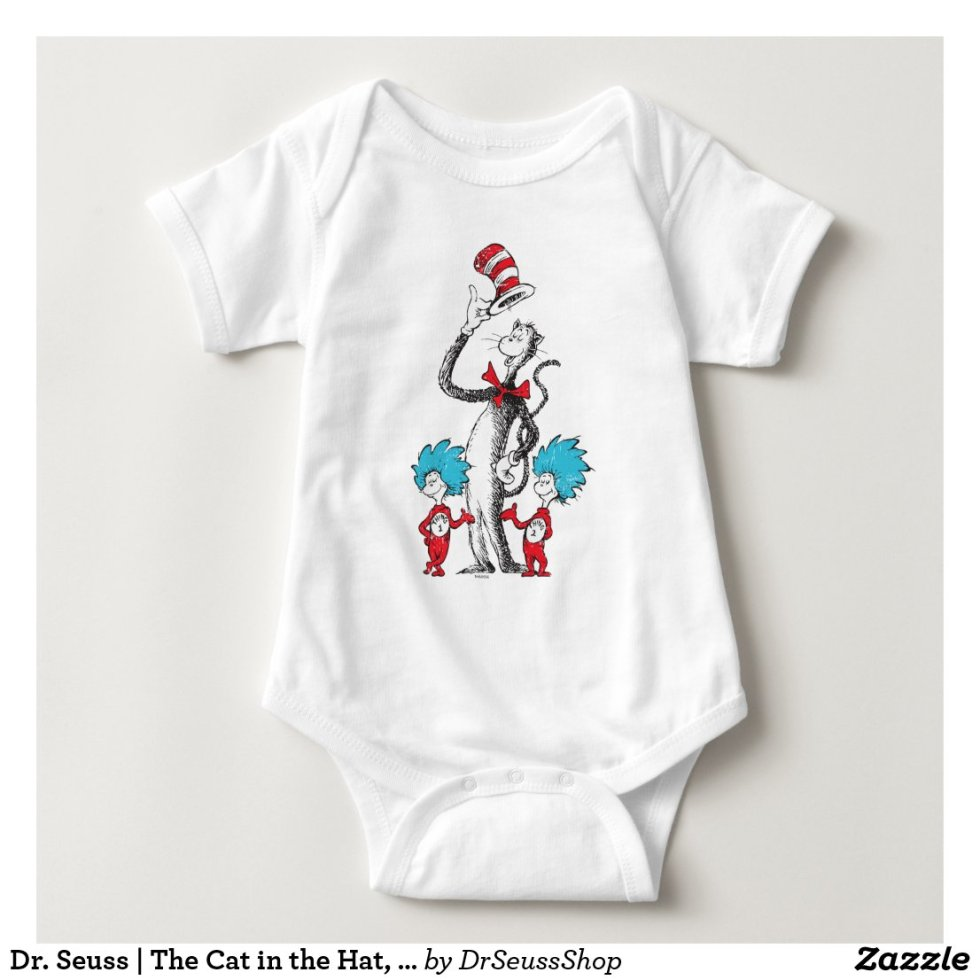 Dr. Seuss | The Cat in the Hat, Thing 1 & Thing 2 Baby Onesie