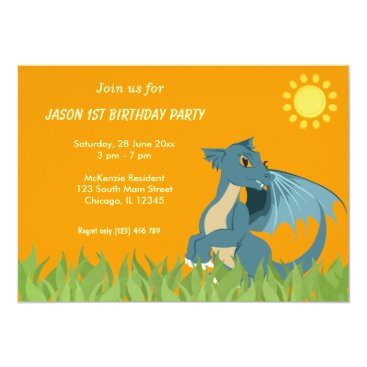 Dragon Birthday Party Card