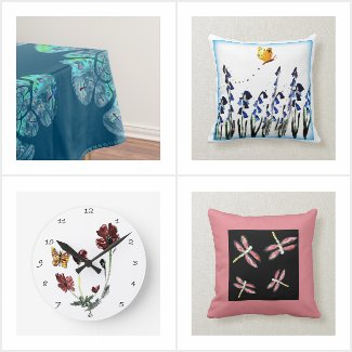 Dragonfly and Butterflies for the home