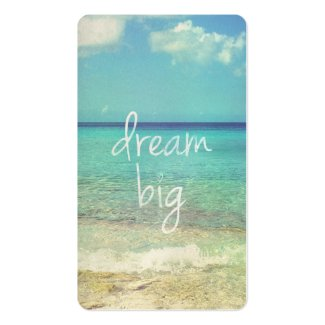 Dream big business card template