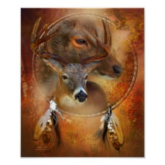 Dream Catcher Series - Autumn Deer Art Poster