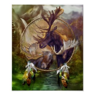 Dream Catcher - Spirit Of The Moose Art Poster