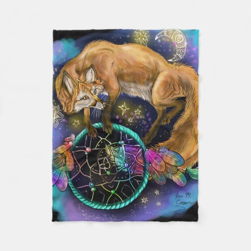 DreamCatcher Fox Fleece Blanket