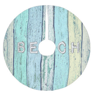 Beach Themed Christmas Tree Skirt Merry And Happy New