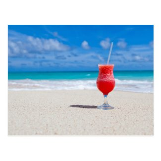 Drink On Beach postcard