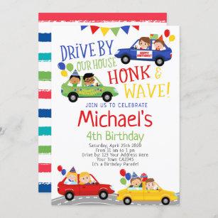 drive by birthday invitations zazzle