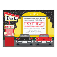 Drive In Movie Party Invitation | Outdoor Movie