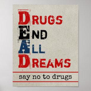 say no to drugs art wall decor zazzle