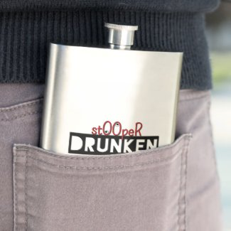 Drunken StOOpeR Stainless Steel Classic Flask Flask