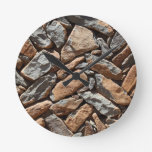 Dry stone wall round clock