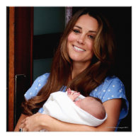 Duchess Of Cambridge Holding Newborn Son 2 Personalized Invitation