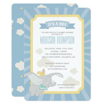 Dumbo   Boy Baby Shower Invitation