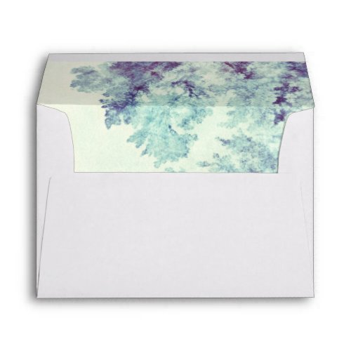 Dusty Blue Tree Branches Rustic Envelope