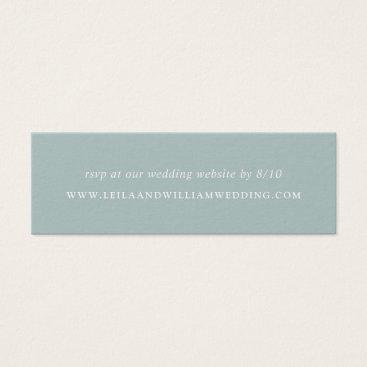 Dusty Sage Wedding Website RSVP Cards