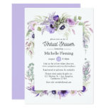 Dusty Violet Floral Virtual Baby or Bridal Shower Invitation