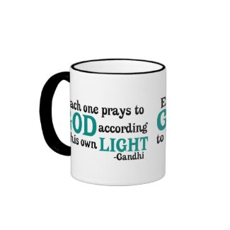 Each One Prays To God According To His Own Light mug