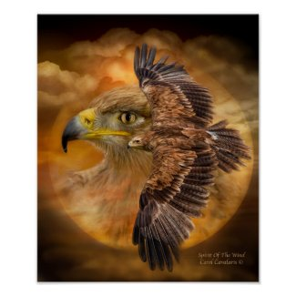 Eagle-Spirit Of The Wind Art Poster/Print