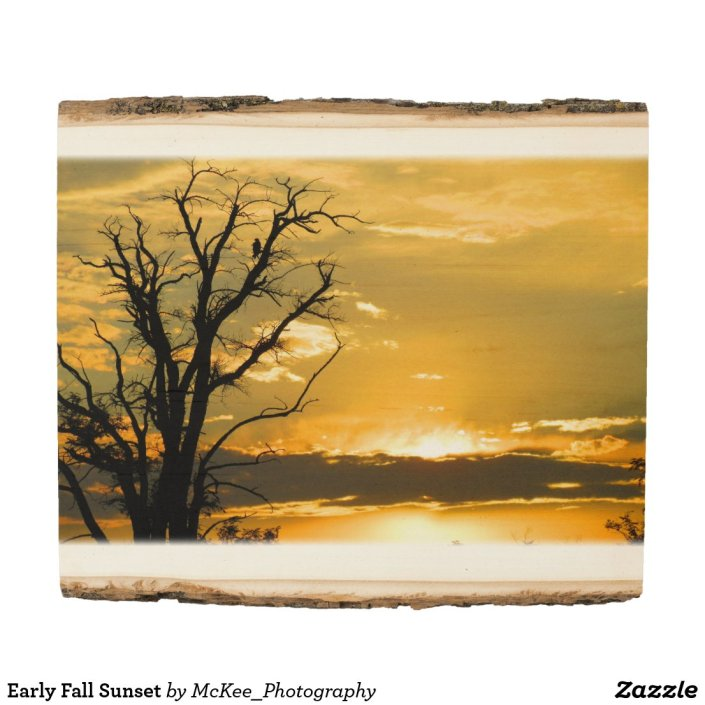 Early Fall Sunset Wood Panel
