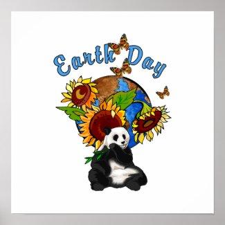 Earth Day Panda Planet print