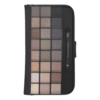 Earth Tone Eyeshadow On the go Galaxy4 Wallet Case