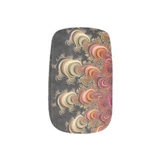 Earth Tone Twirls Fractal Minx Nail Art