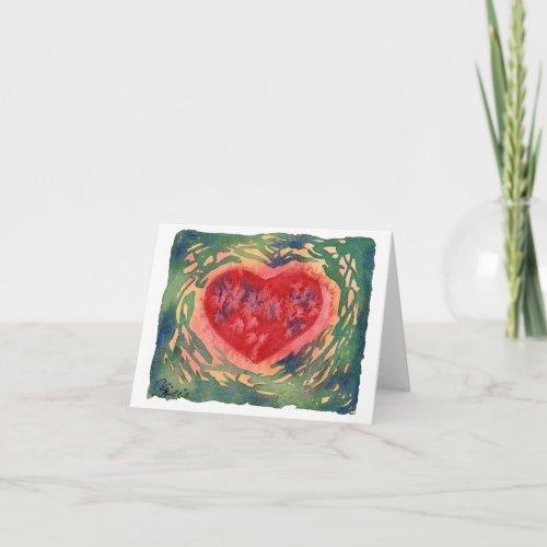 Earthy Heart Card
