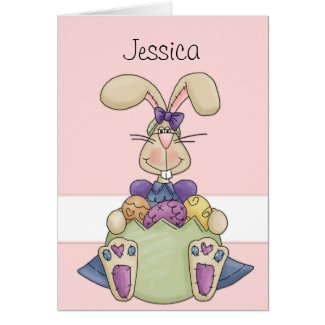 Easter Bunny Custom Card