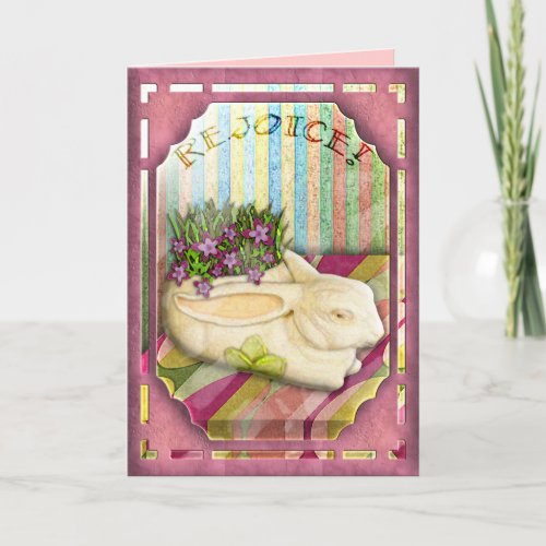 Easter Bunny in Pink (card) card
