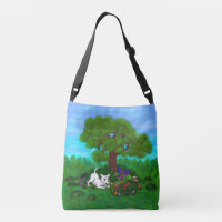 Easter - Puppy Capo and Butterfly Crossbody Bag
