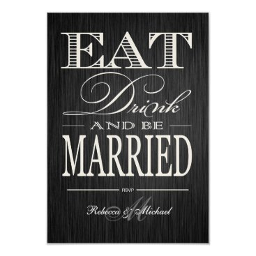 Eat Drink and be Married - Metallic Champagne Card