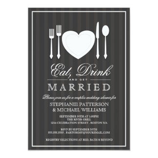 Eat Drink And Be Married Invitations Amp Announcements Zazzle