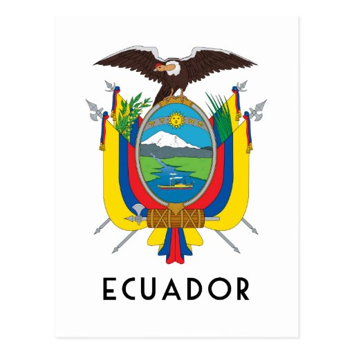 Ecuador Symbolcoat Of Armsflagcolorsemblem Postcard