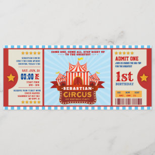 circus birthday invitations zazzle