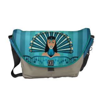Egyptian Peacock Princess Rickshaw Messenger Bag rickshawmessengerbag