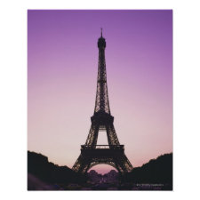 Eiffel Tower at Sunset Posters