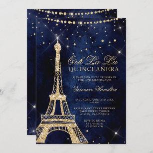 paris birthday invitations zazzle
