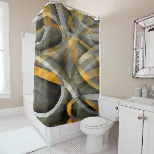 black grey yellow shower curtains zazzle