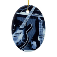 Electric Blue Guitar ornament