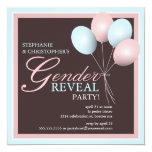Elegant Baby Balloon Gender Reveal Invitation
