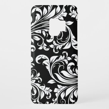 Elegant Black and white floral damask Case-Mate Samsung Galaxy S9 Case
